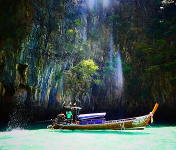 Schnappschuss von einem Fischer auf Phi Phi Island