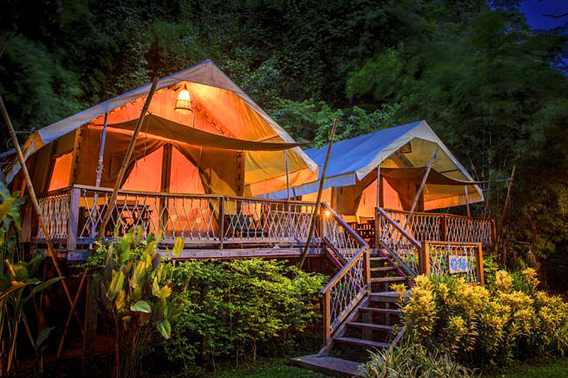 "Zelt-Camp im Sai Yok Nationalpark: ""HinTok River Camp"""