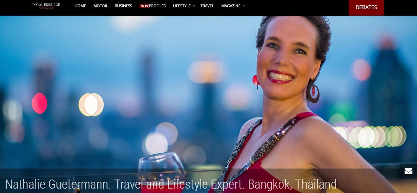 Total Prestige Magazine - Interview Nathalie Gütermann
