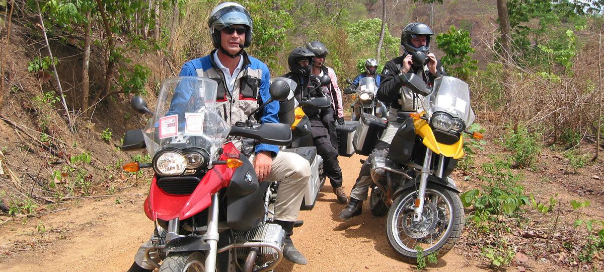 """Thailand Motorradtour (1): Nathalie """"off road""""!"""