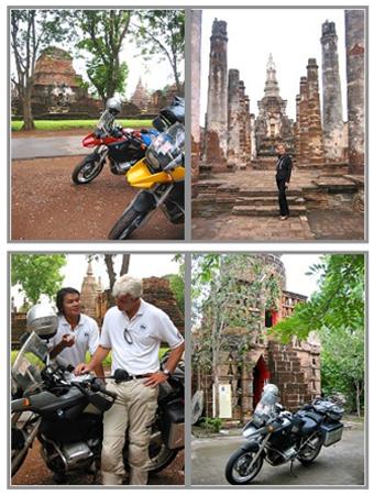 Thailand Motorradtour: Biker Trip nach Phuket mit Nathalie Gütermann. Hier: Sukothai