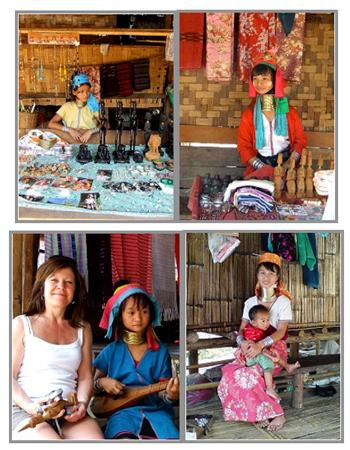 Thailand Motorradtour (2) mit Nathalie Gütermann. Hier: Giraffenfrauen