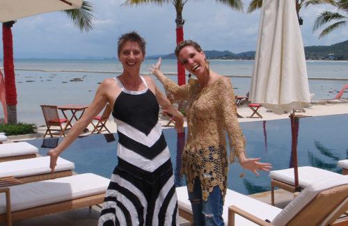 Die besten Koh Samui Tipps: die bekommt man von Nathalie Gütermann (rechts mit einer Freundin) und Hakan Genisol