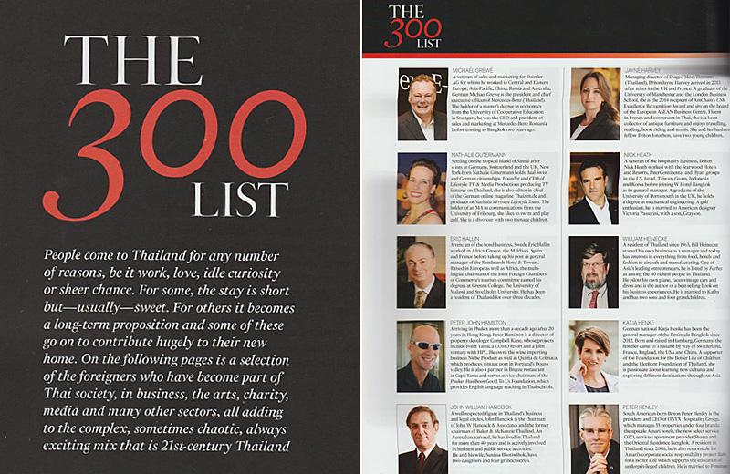 "Thailand Tatler Magazine ""The 300 List"" - Expat Society"