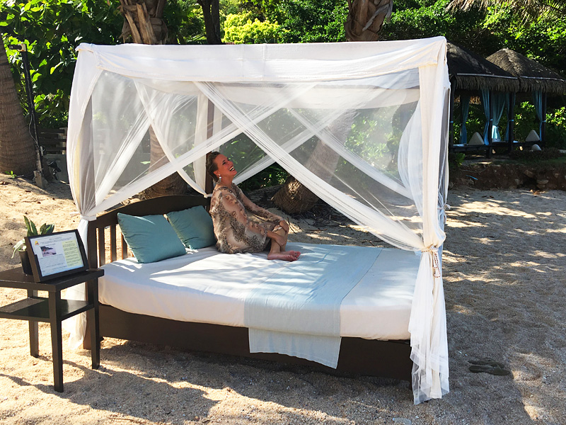 """Nathalie am Beach des """"Tongsai Bay"""" auf Koh Samui"""