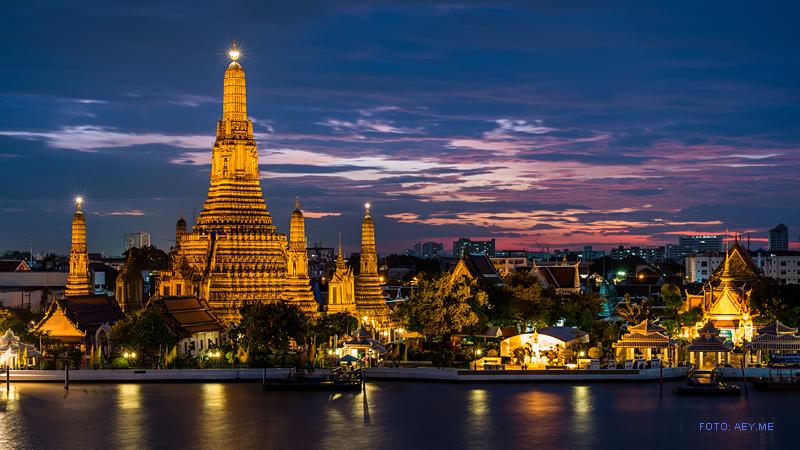 """""""Thailand Lifestyle""""-Tipp von Nathalie Gütermann: Der WAT ARUN am """"Chao Phraya River"""", Bangkok"""