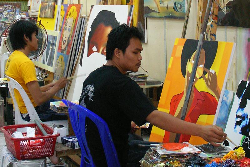 """""""Thailand Lifestyle""""-Tipp von Nathalie Gütermann: Kunst vom CHATUCHAK MARKT IN BANGKOK (""""Weekend Market"""")"""