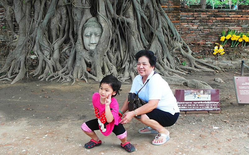 "Thailand-Lifestyle.com - Nostalgia Tour: ""Antikes Ayutthaya"". Hier: der Wat Mahathat"
