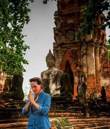 """Thailand-Lifestyle.com - Nostalgia Tour: Nathalie Gütermann erkundet das """"Antike Ayutthaya"""""""