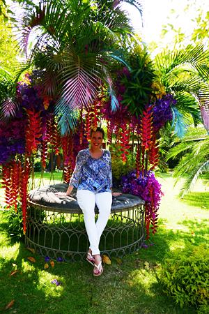 "Nathalie Gütermann beim Besuch des ""Nai Lert Bangkok Flower Festival"""