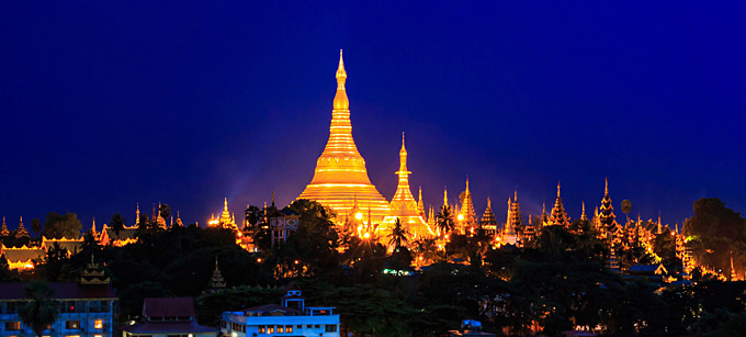 Yangon Attraktion: Goldene Shwedagon Pagode