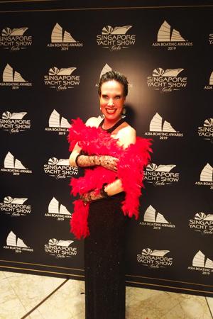 Nathalie Gütermann bei der exklusiven Gala-Nacht zum Auftakt der Singapur Yacht Show 2019