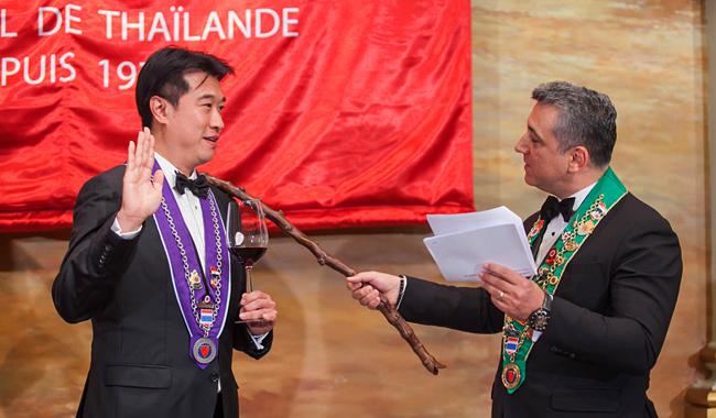 """Arto Artinian (rechts) ist ein """"Bailli Délégué Honoraire"""" und war Gastgeber des eleganten Abends"""