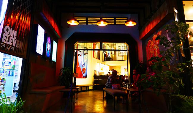 """Die """"One Eleven Gallery"""" in der Innenstadt von Siem Reap"""